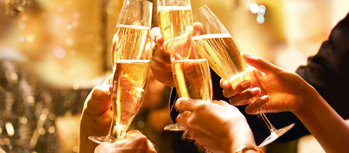 champagne-skål